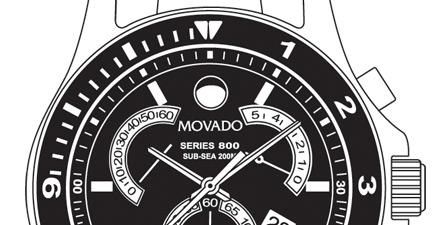 Movado Line Art Illustrations