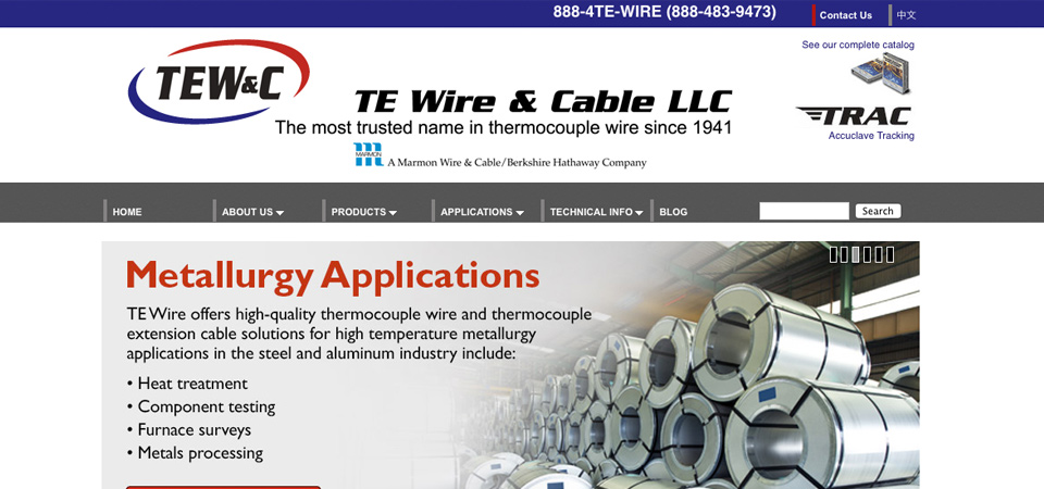 TE Wire and Cable E-Commerce Website -